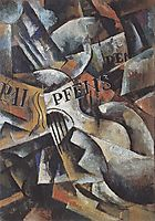 Still Life with Guitar , 1915, popova