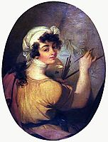 Portrait of a Woman (Painter), 1800, portuense