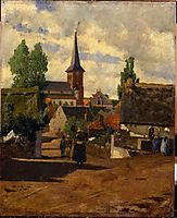 Aldeia de Saint-Sauves, 1881, pousao