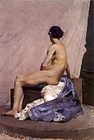 Model painting, 1880, pousao