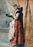 Rapariga Romana, 1882, pousao