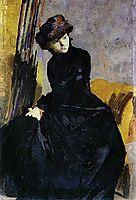 Senhora vestida de negro, 1882, pousao