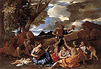 Andrians or The Great Bacchanal with Woman Playing a Lute, 1628, poussin