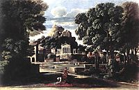 The Ashes of Phocion collected by his Widow, 1648, poussin
