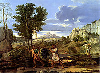 Autumn. The Grapes from the Promised Land, 1660-1664, poussin