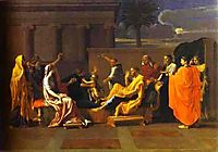 Baby Moses Trampling on the Pharaoh-s Crown, 1645, poussin