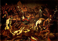 Battle of Gideon Against the Midianites, 1626, poussin