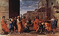 Christ and the adulteress, 1653, poussin