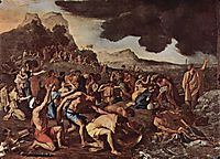 The crossing of the Red Sea, 1637, poussin