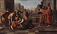 The Death of Sapphira, 1652, poussin