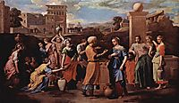 Eliezer and Rebecca at the Well, 1648, poussin