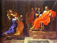 Esther before Ahasuerus, poussin