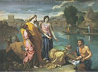 The Finding of Moses, 1638, poussin