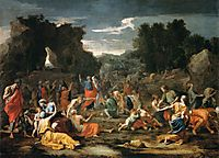 Gathering of Manna, c.1637, poussin