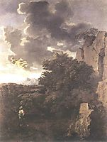 Hagar and the Angel, c.1660, poussin
