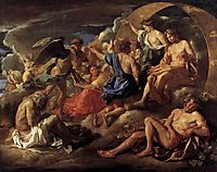 Helios and Phaeton with Saturn and the Four Seasons, 1629-30, poussin