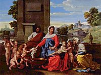 Holy Family, 1650, poussin