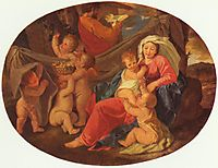 Holy Family with Angels, 1630, poussin