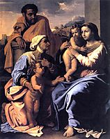 The Holy Family with St. Elizabeth and John the Baptist, c.1655, poussin