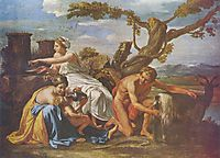 The Infant Jupiter Nurtured by the Goat Amalthea, c.1638, poussin