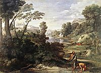 Landscape with Diogenes, c.1647, poussin
