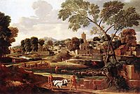 Landscape with the Funeral of Phocion, 1648, poussin