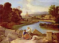 Landscape with St. Matthew and the Angel, c.1645, poussin