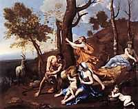 The Nurture of Jupiter, poussin