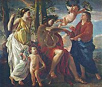 The Poet-s Inspiration, poussin