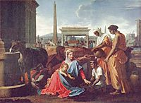 Rest on the escape to Egypt, 1657, poussin