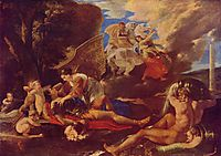 Rinaldo and Armida, 1626, poussin