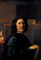 Self Portrait, 1650, poussin