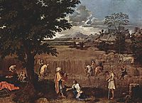 Summer. Ruth and Boaz, 1660-1664, poussin