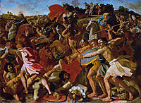 Victory of Joshua over the Amalekites, c.1625, poussin