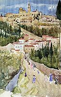 Assisi, c.1899, prendergast