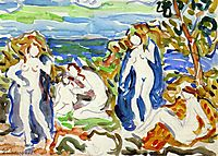 The Bathers, c.1915, prendergast