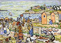 Bathers and Strollers, c.1919, prendergast