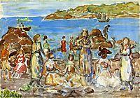 Beach Scene, New England, c.1919, prendergast