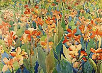 Bed of Flowers (also known as Cannas or The Garden), c.1899, prendergast