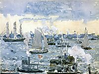 Boston Harbor, c.1905, prendergast