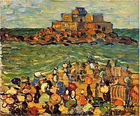 Chateaubriand s Tomb, St Malo (also known as St. Malo Chateaubriand s Tomb), c.1907, prendergast
