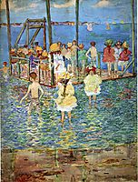 Children on a Raft, 1896, prendergast