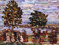 Crepuscule (also known as Sunset), c.1910, prendergast