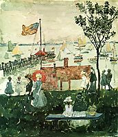 Excursionists, Nahant, c.1897, prendergast