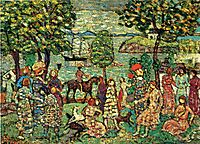 Fantasy (also known as Landscape with Figures), c.1915, prendergast