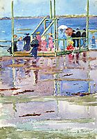 Float at Low Tide, Revere Beach (also known as People at the Beach), c.1897, prendergast
