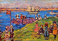 Harbor, Afternoon, c.1906, prendergast