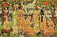 The Idlers, c.1920, prendergast