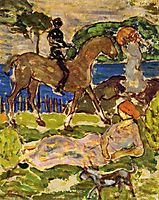 Idyllic Landscape, c.1915, prendergast