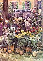 Italian flower market, prendergast